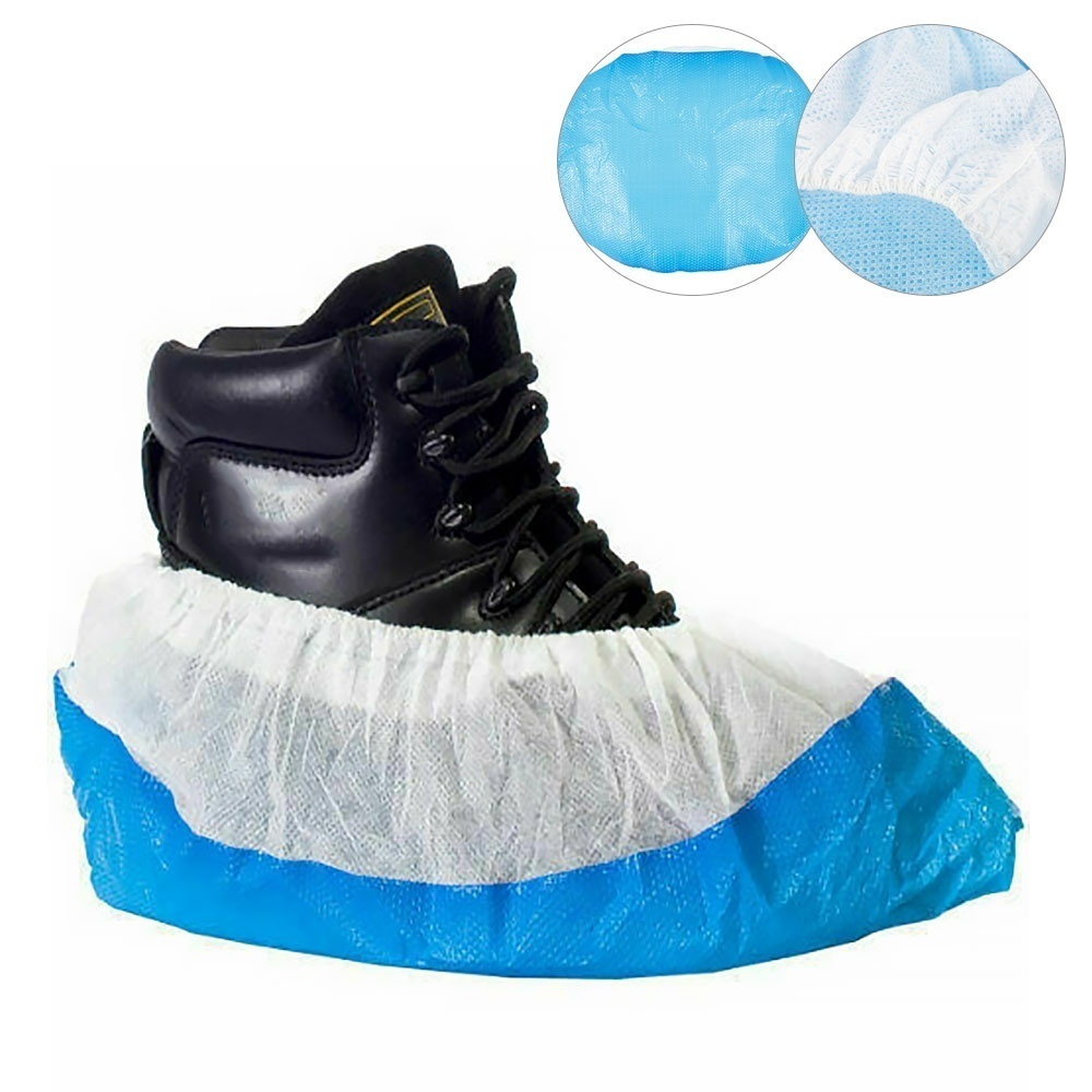 50Pcs Blue Plastic Waterproof Disposable Raining Days Overshoes Boot Shoes Cover
