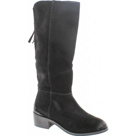 - Naughty Monkey Stride Women  Round Toe Leather Black Knee High Boot