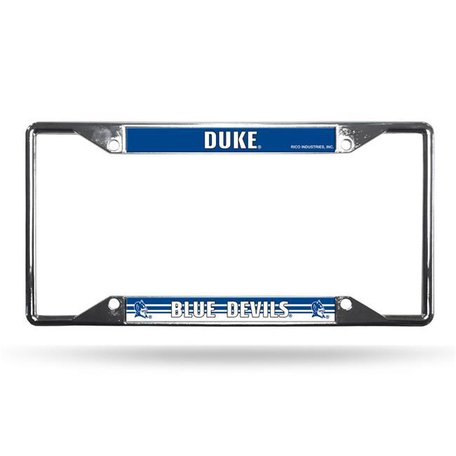 MKW 9474648607 Duke Blue Devils License Plate Frame Chrome EZ View