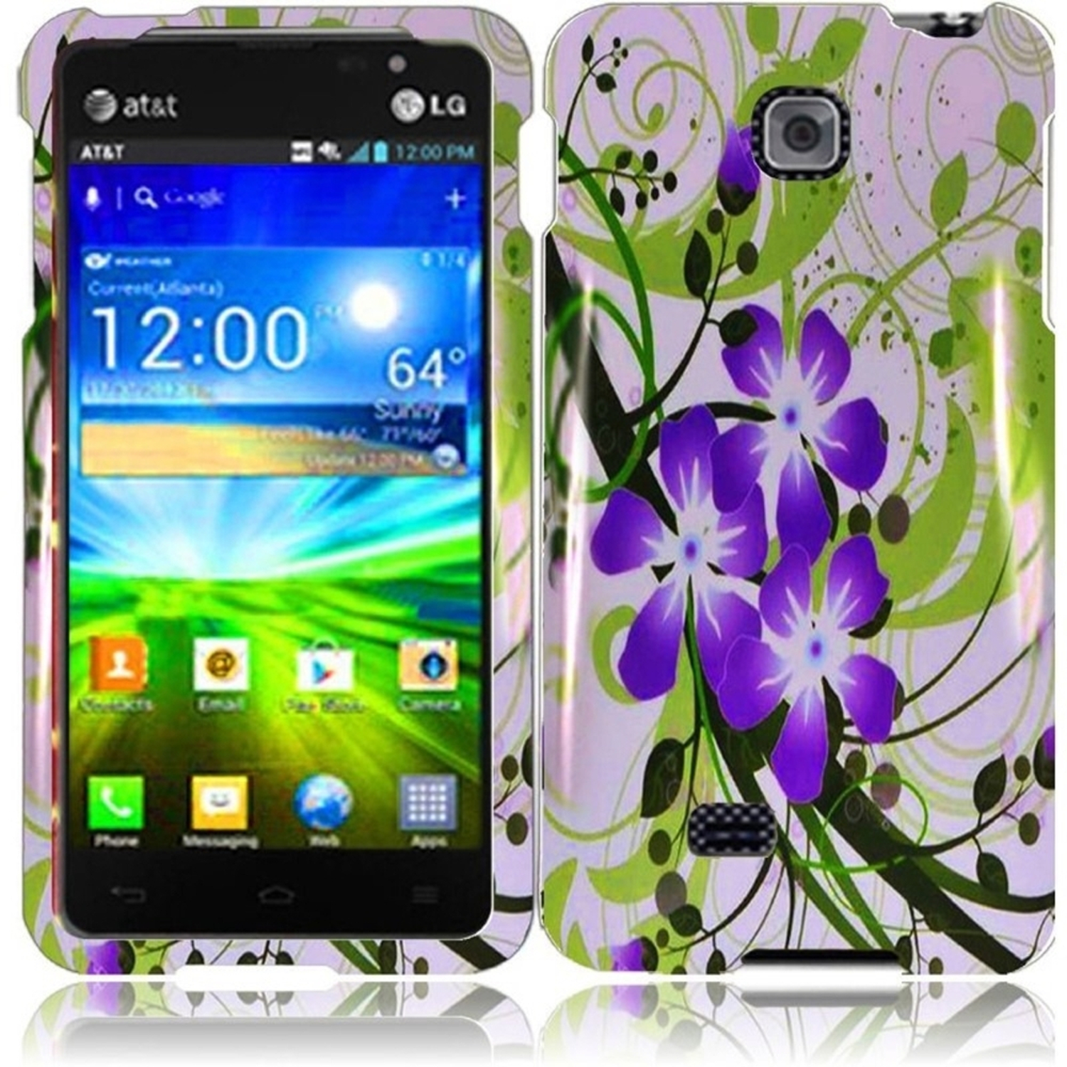 Insten For LG Escape P870(AT&T) Design Phone Hard Case Green Lily