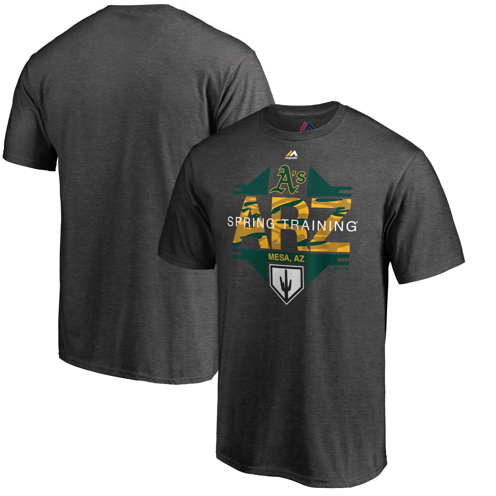 Oakland Athletics Majestic 2019 Spring Training Cactus League Winner Big & Tall T-Shirt - Heather Gray