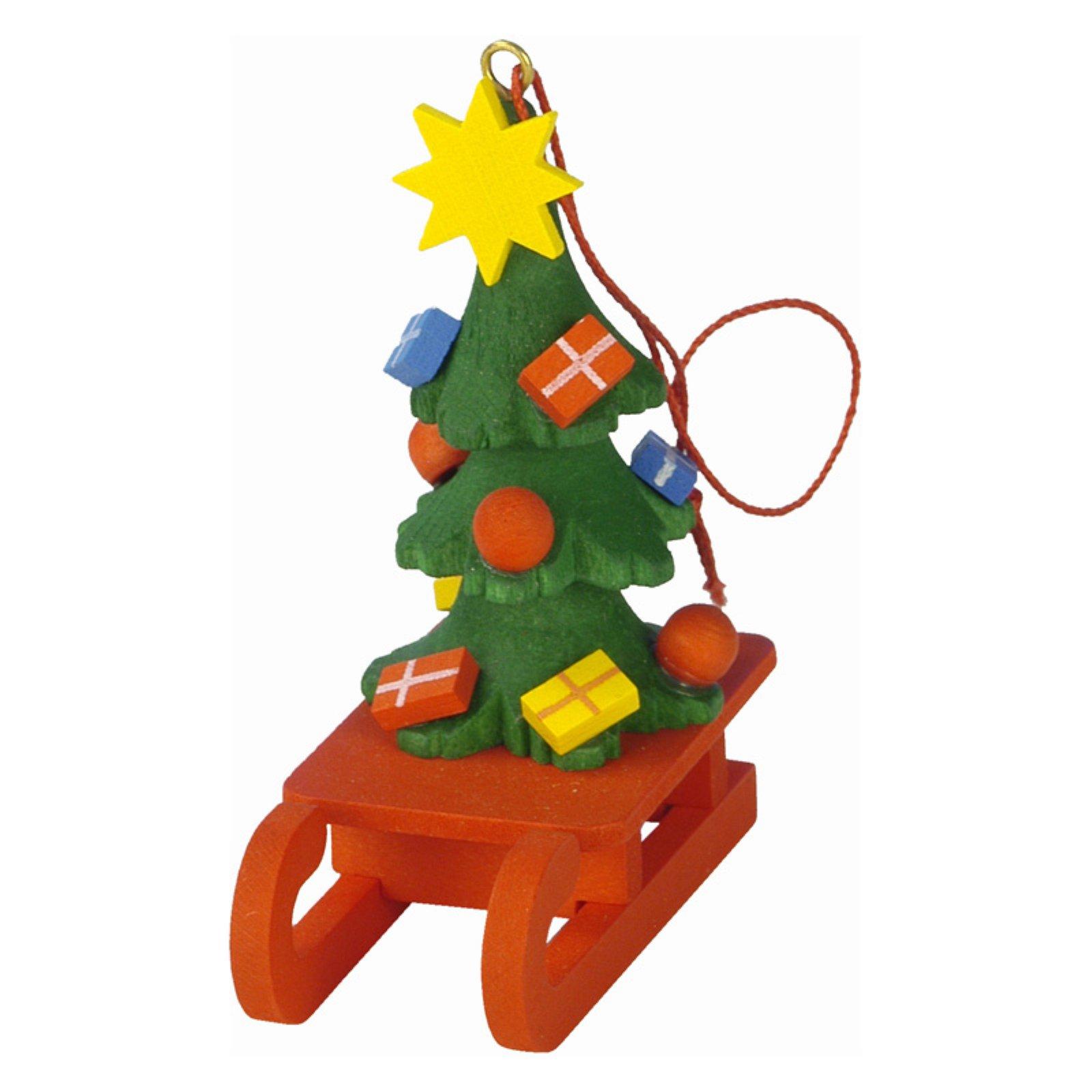 Christian Ulbricht Christmas Tree on Sled Ornament