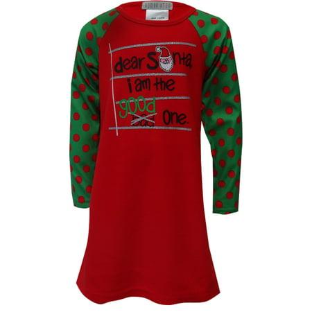 dear santa i am the good one christmas fleece nightshirt - Christmas Fleece