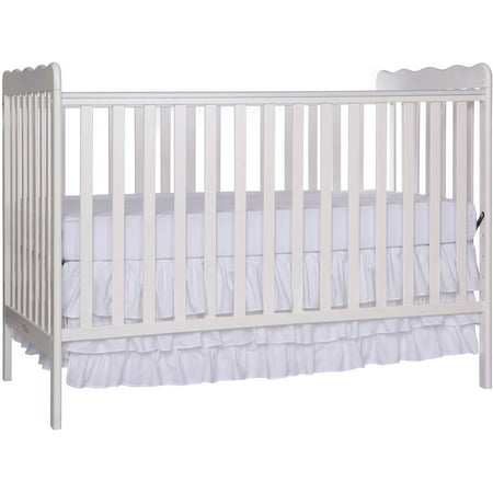 Infant Wood Crib - Dream On Me Classic 3-in-1 Convertible Crib - White