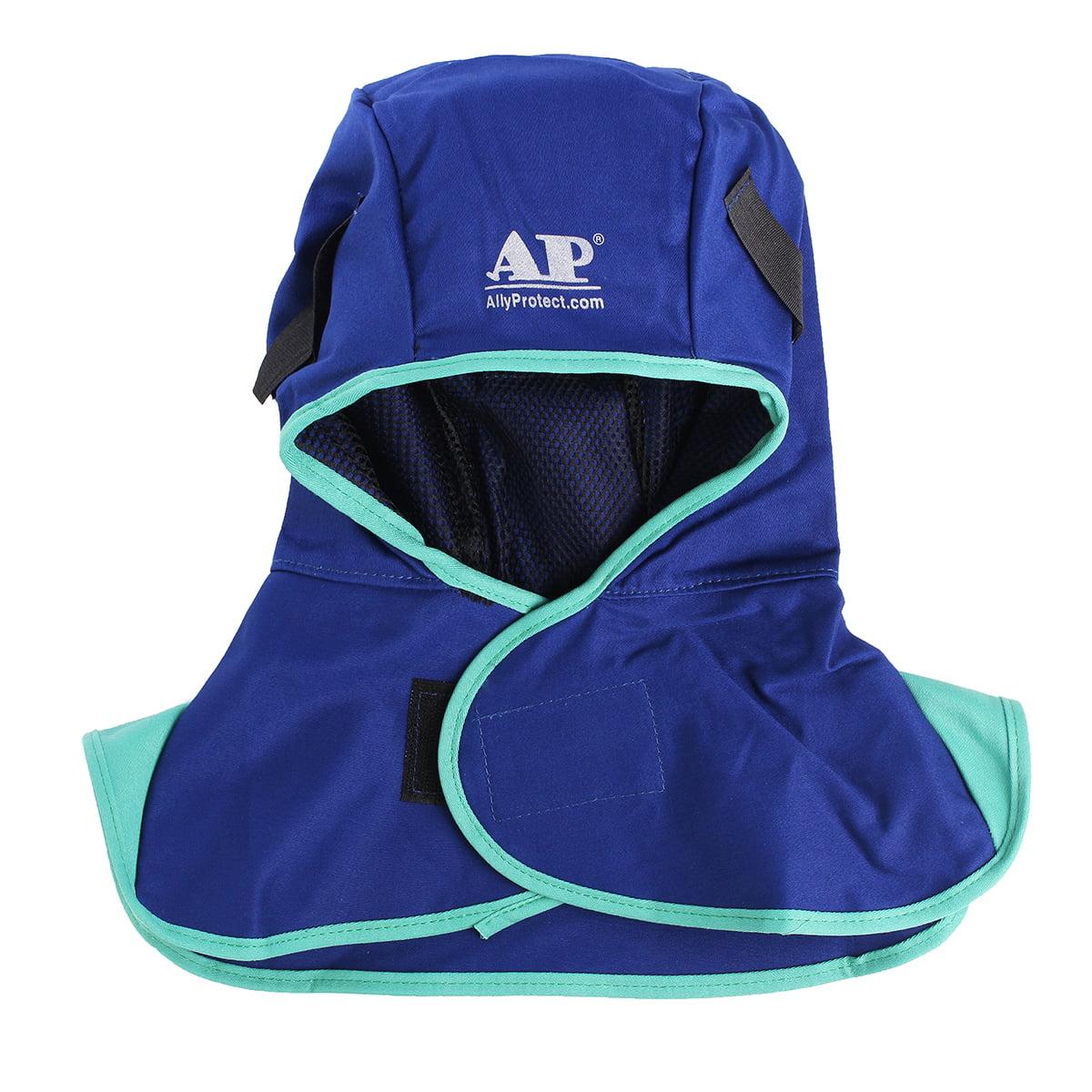 Neck Shoulder Protection Cover Almencla 2 Pack Blue Flame Retardant Welding Hood//Match All Kinds of Welding Helmets