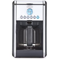 Bella Dots Collection 12 Cup Custom Coffee Maker, Black (Certified Refurbished)