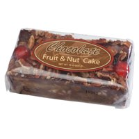 Grandma's Chocolate Fruitcake Brownie Fruit and Nut Cake, Plump Cherries, with Walnuts, Pecans in 1lb Loaf