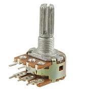 Unique Bargains Knurled Shaft Dual Taper Linear Potentiometer 100K ohm B100K Model