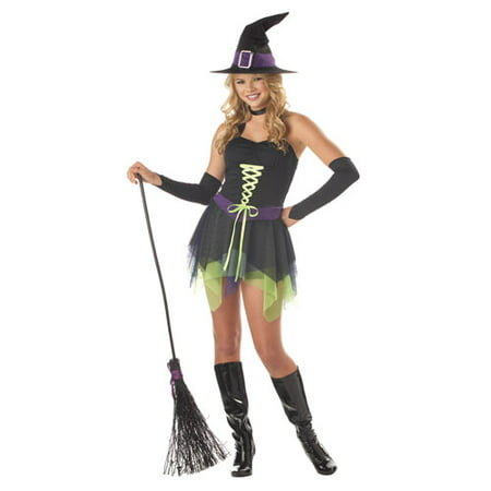 Sassy Witch Teen Girls Witch Halloween Costume - Walmart.com