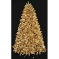 9 ft. PVC Gold Laser Tree, Gold