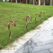 10pcs/set Candy Cane Pathway Lights Christmas Pathway Markers Outdoor Christmas Decoration US Plug