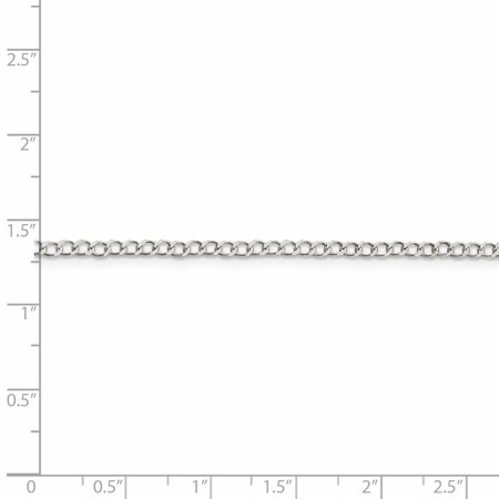 925 Sterling Silver 2.5mm Wide Curb Chain Anklet - image 2 de 5