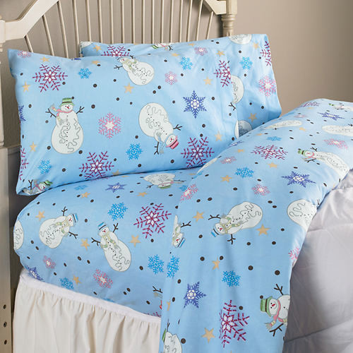 Woodland 80 Thread Count 100pct Cotton Snowman Flannel