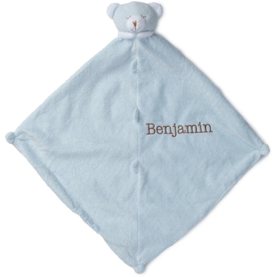 Personalized Bear Blankie, Pink or Blue