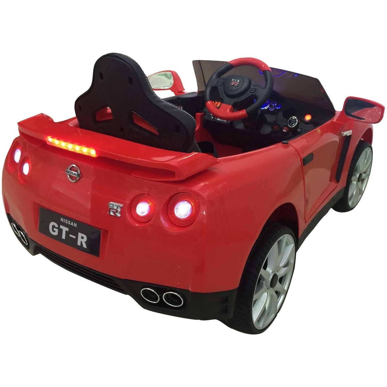 12v Best Ride On Nissan Gtr R35 In White Battery Powered Wheels Back Gt Imgs For Dry Cell Diagram Wonderlanes Toys Kids