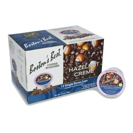 Boston's Best Hazelnut Crème Flavored Coffee, Single Serve Cups, 12