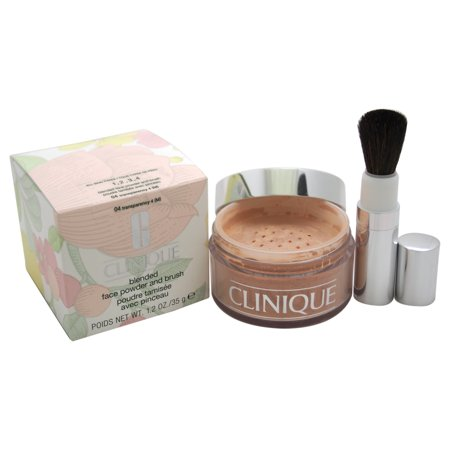 Blended Face Powder and Brush - # 04 Transparency 4 (M)- All Skin Types by Clinique for Women - 1.2 oz Powder ()