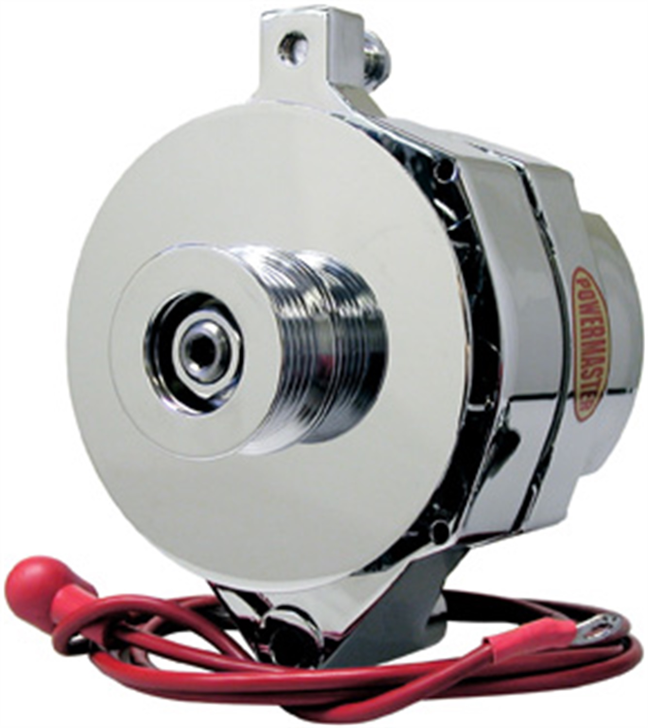 Powermaster 8-37140 Alternator; Ford Upgrade; 140 Amp; w/6 Groove Pulley; Chrome;