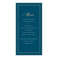 Personalized Wedding Menu Card - Elegant Lines - 4 x 8 Flat