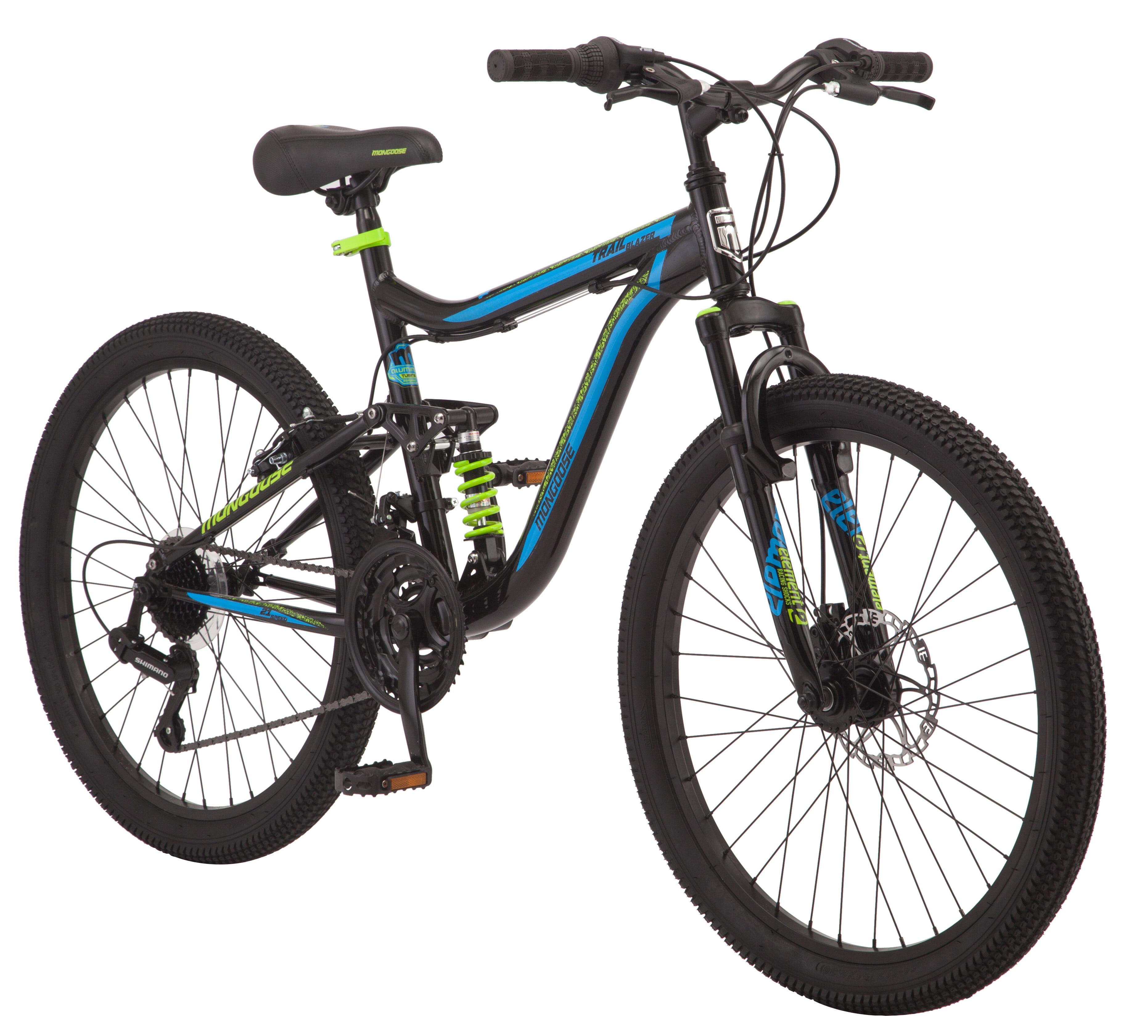 "Mongoose Trail Blazer Mountain Bike, 24"" wheels, 21 speeds, black by Pacific Cycle"