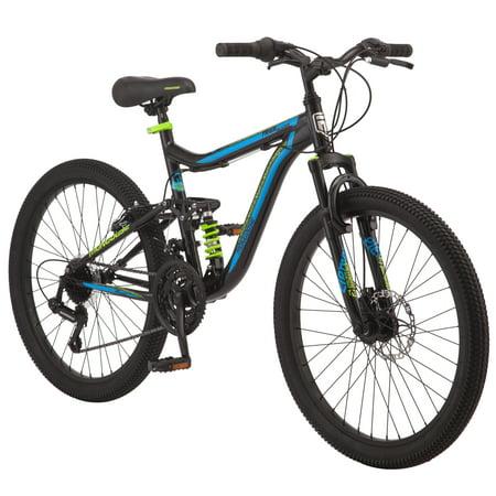 Mongoose Trail Blazer Mountain Bike, 24-inch wheels, 21 speeds,