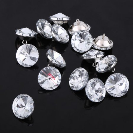 WALFRONT 50pcs Crystal Diamond Effect Sofa Headboard Upholstery Sewing Buttons 25mm US - image 1 of 3