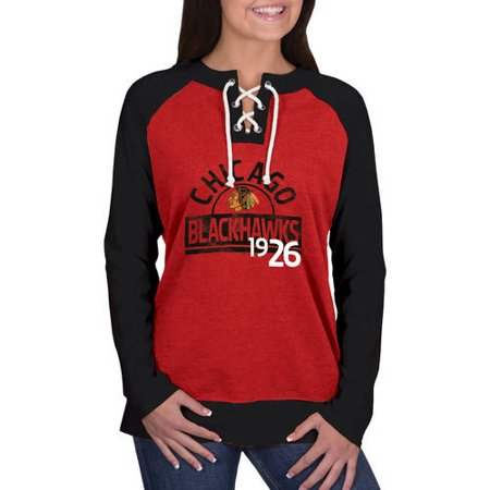 Hockey Blackhawks (NHL Chicago Blackhawks Ladies Fashion Long Sleeve Lace-Up)