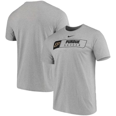 Nike Soccer Suit - Purdue Boilermakers Nike Soccer Primary Sport Logo Performance T-Shirt - Heathered Gray