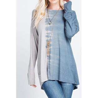 Womens Open Neck Shirt - Women High Neck Long Sleeve Open Back Top