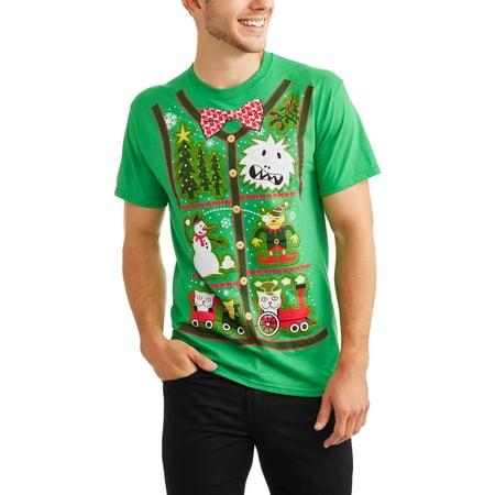 Mens Christmas Vests - License Xmas Patches Vest Shirt