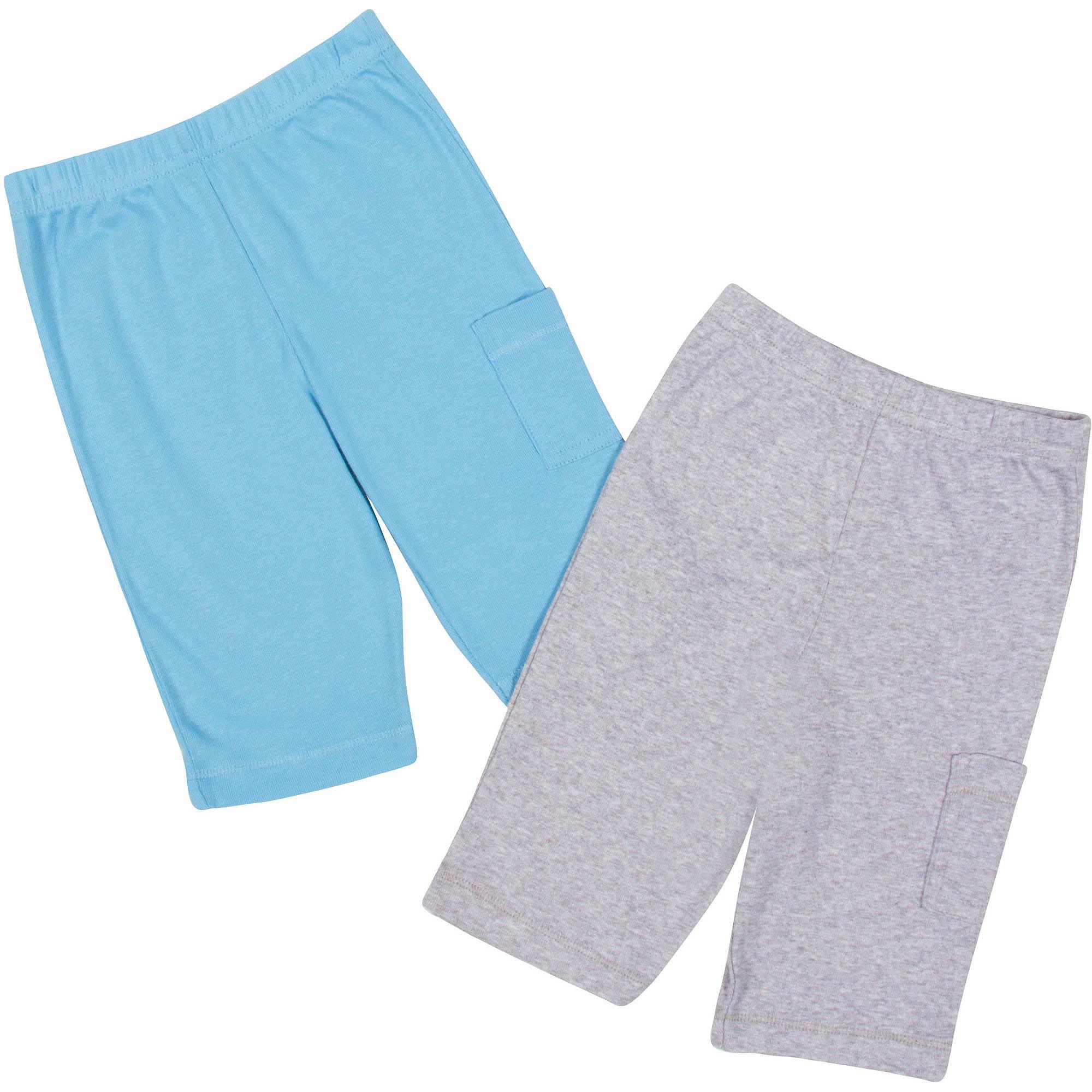 Gerber Newborn Baby Boy Layette Pants, 2-Pack
