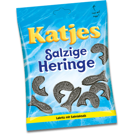 Dutch Salted Licorice (Salzige Heringe, Salted Black Licorice (Katjes))