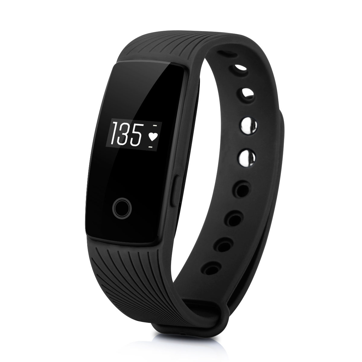 Diggro ID107HR Fitness Tracker, Heart Rate Smart Bracelet Call/SMS Reminder Pedometer Sedentary Sleep Monitor Remote Capture for Android iOS