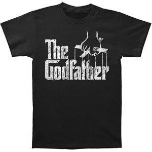 Godfather Men's  Distress Copy Slim Fit T-shirt - Black Godfather