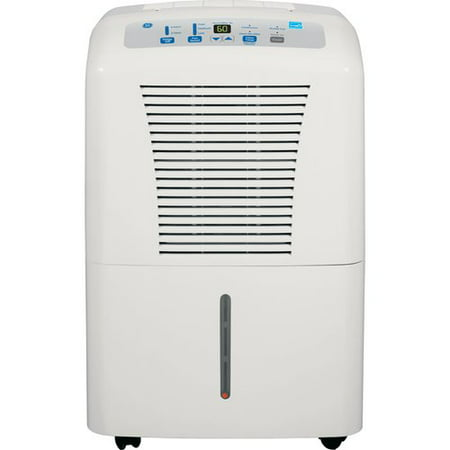 GE 50-Pint Dehumidifier for Basements w/Drain, White, ADEW50LR