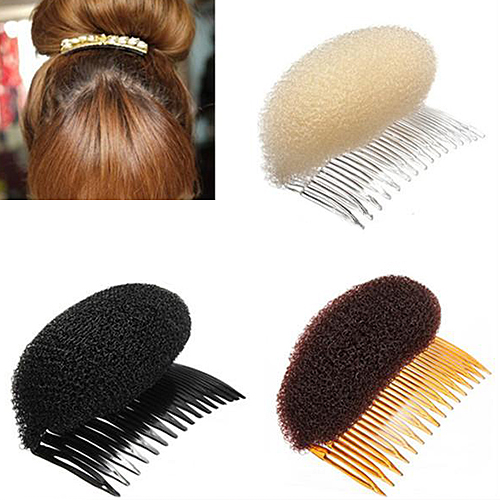 Girl12Queen Easy Volume Maker Bouffant Beehive Shaper Bumpits Bump Foam on Comb Hair Styler