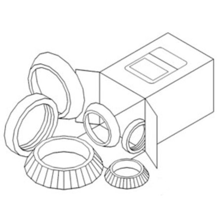 Cc Djs Kit - DJS Tractor Parts / Front Wheel Bearing Kit - Allis Chalmers D21, 210, 220 - ...