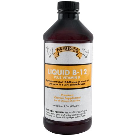 Rooster Booster Liquid B-12, 6 -
