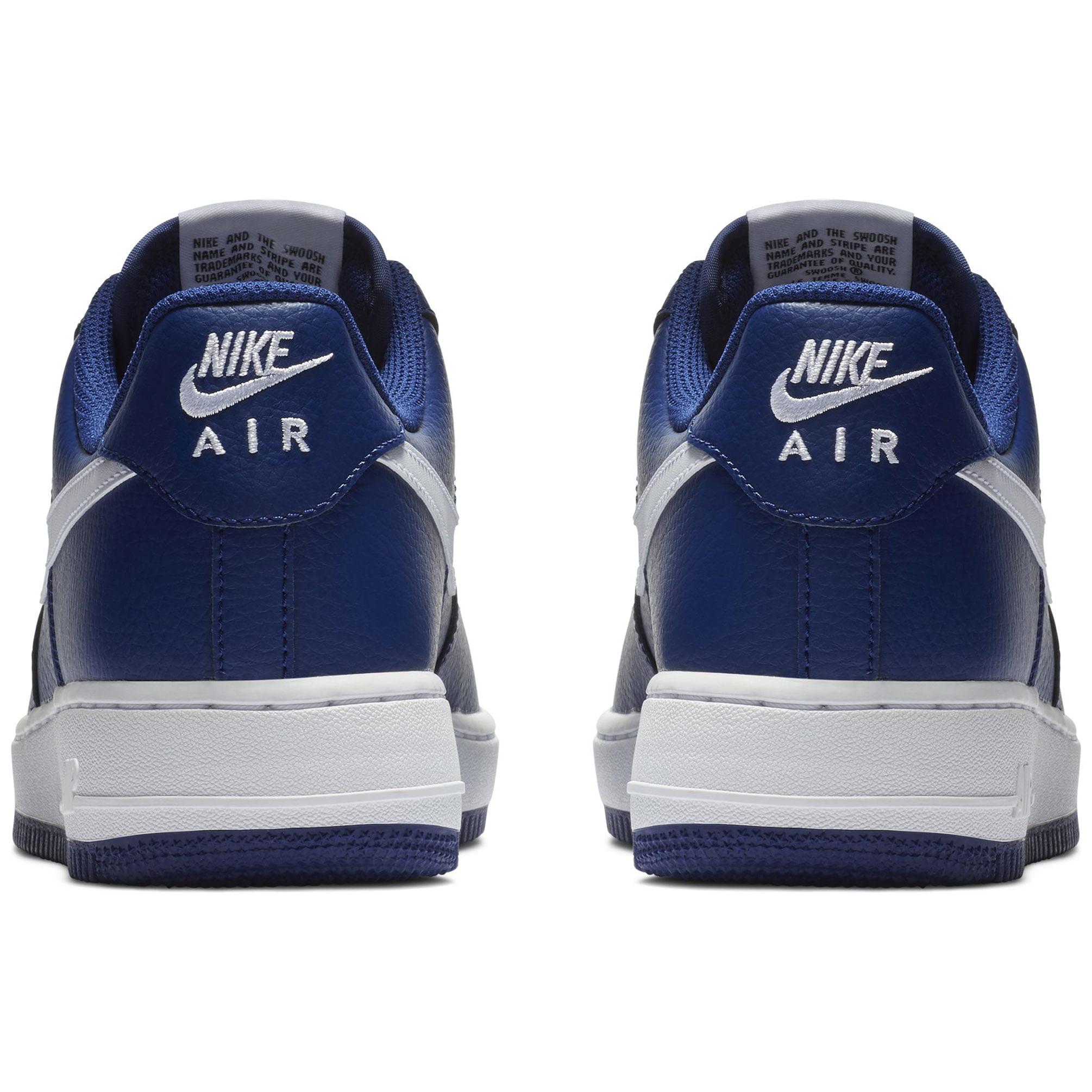 Nike Men's Air Force 1 Basketball Shoe Deep Royal Blue/White-White 12