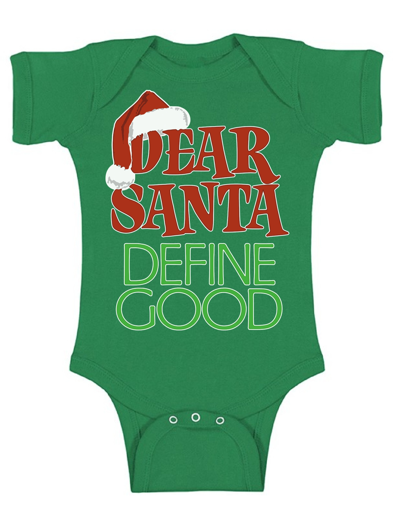 Choose Size and Color Define Good Christmas Embroidered Baby Bodysuit Dear Santa