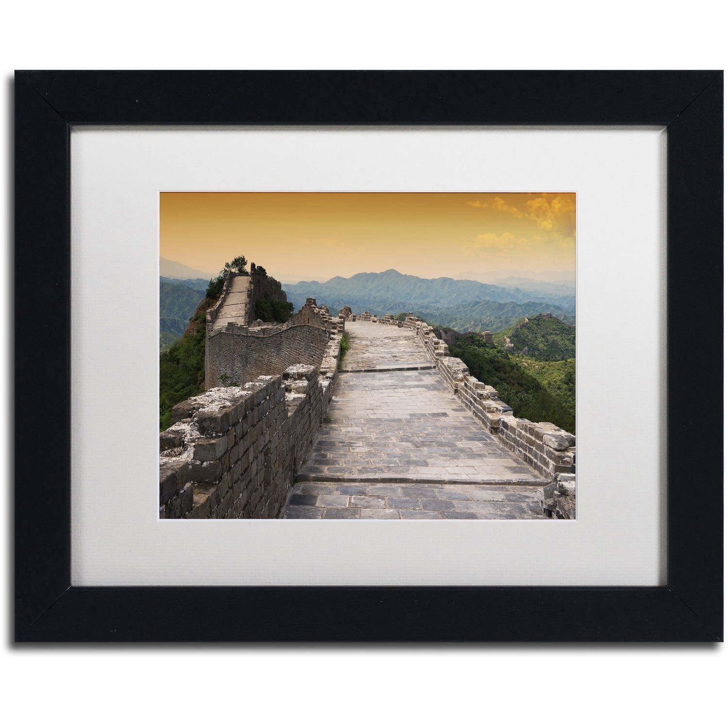 "Trademark Fine Art ""Great Wall VI"" Canvas Art by Philippe Hugonnard, White Matte, Black Frame"