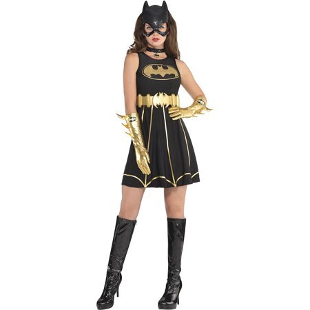 Batgirl Fit & Flare Halloween Costume Dress for Women, Batman, Medium