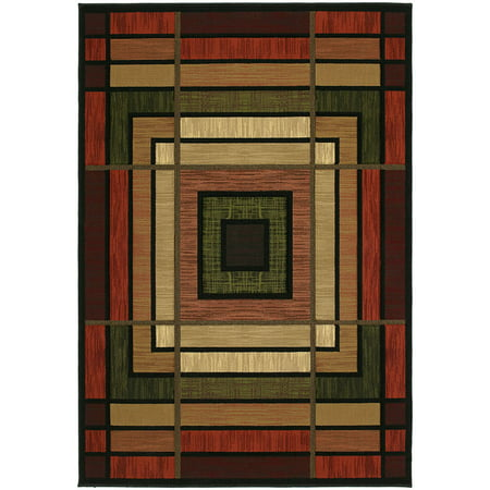 United Weavers Contours Area Rug 510-25029 Ambience Terracotta Panels Blocks