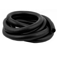 Black 42mm x 35mm Flexible Split Corrugated Tubing Wire Cable Conduit Tube 4.5M