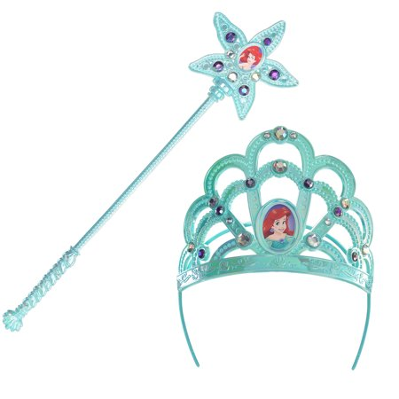 Mermaid Costume Accessories (The Little Mermaid Ariel Costume Accessory Kit, Includes a Crown and a)