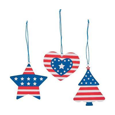 IN-13749013 Patriotic Ornaments 2PK