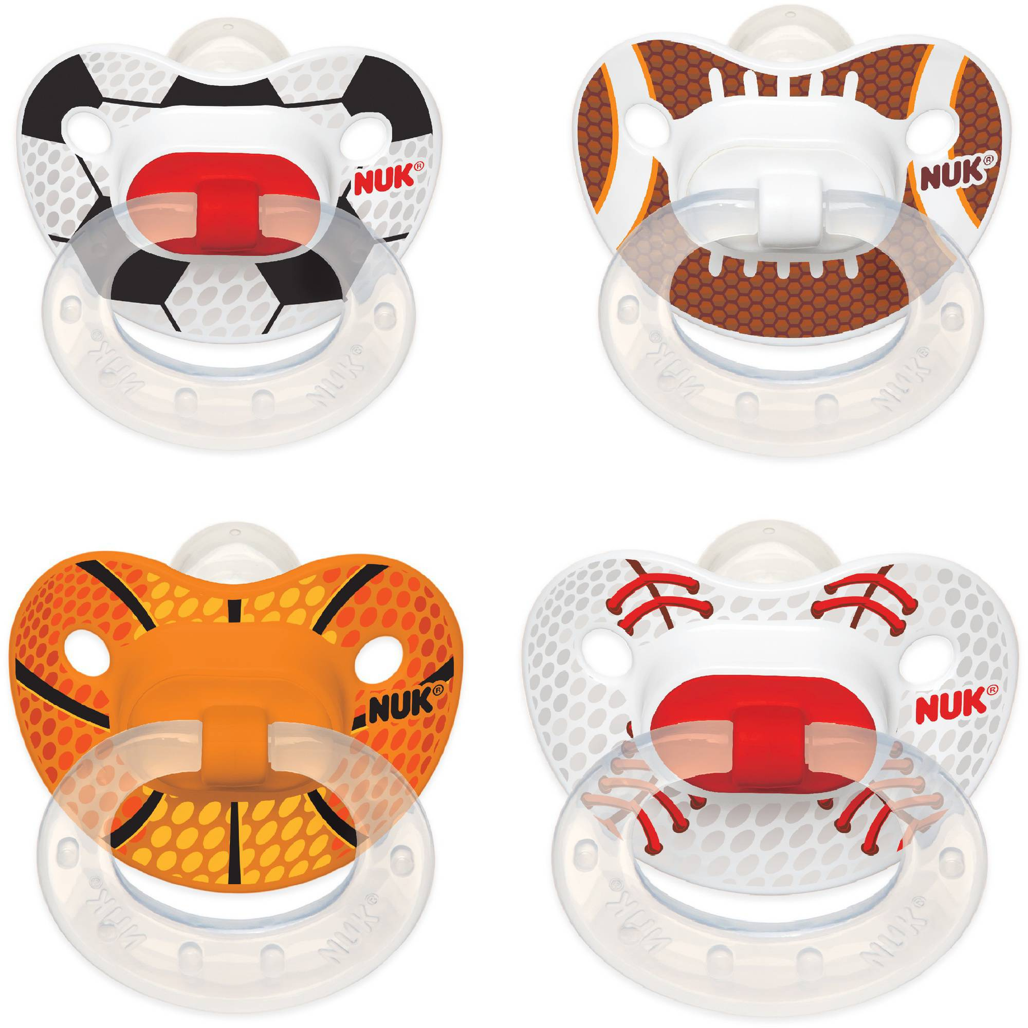 NUK Sports Silicone Orthodontic Pacifiers, 2ct, 6-18 months, BPA-Free (Design May Vary)