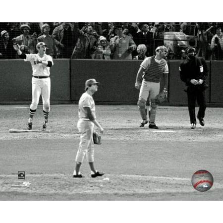 Carlton Fisk Game Six Home Run from the 1975 World Series Photo Print Carlton Fisk Plate