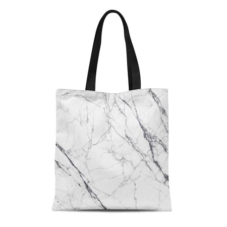 ASHLEIGH Canvas Tote Bag Gray Luxury White Marble and Pattern Detail Grey Stone Reusable Shoulder Grocery Shopping Bags Handbag](Gray Tote Bag)