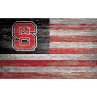 NC State Wolfpack 11'' x 19'' Distressed Flag Sign